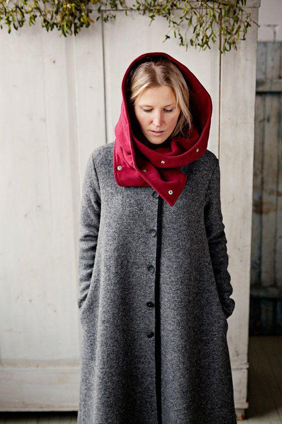 Châle capuche CANNEBERGE Red Riding Hood capot par SondeflorShop