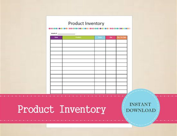 Product Inventory  Business Planner  by MBucherConsulting on Etsy