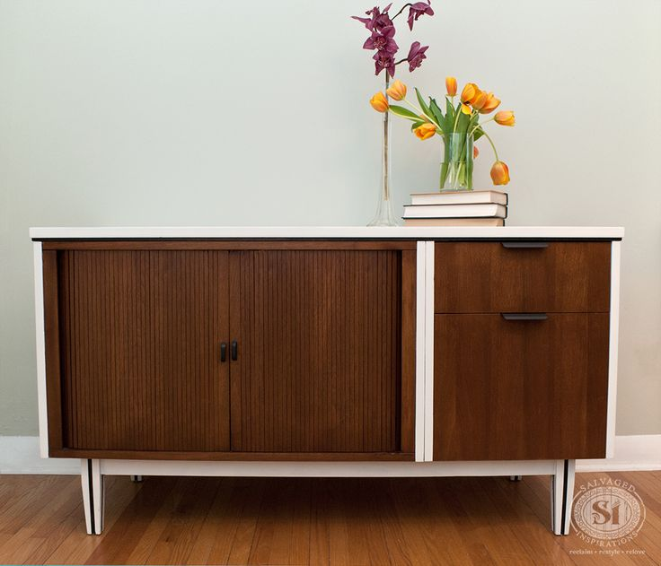 So Easy To Bring A Dated Mid Century Modern Piece Of Furniture Into This  Century W A