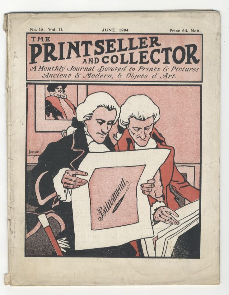 The Print Seller Magazine 1904  www.sleekburnprints.com