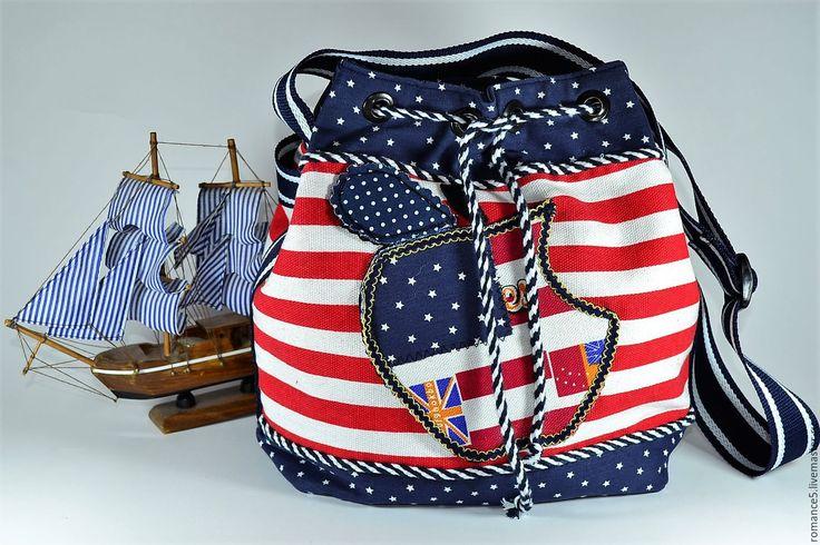 Купить Сумка летняя текстильная Apple - комбинированный, сумка женская, сумка ручной работы