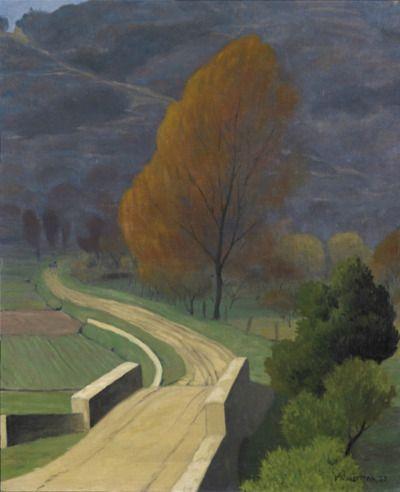 Felix Vallotton -The Bridge over Béal (Le Pont sur le Béal), 1922 Oil on canvas Private collection