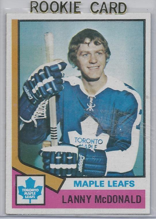 1974-75 TOPPS # 23 Lanny McDonald RC Toronto Maple Leafs NM #TorontoMapleLeafs