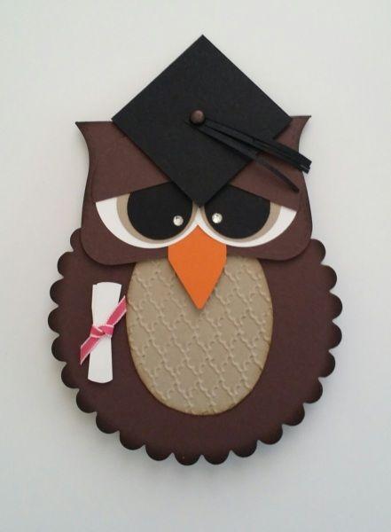 Graduation Owl card by Erin Mize