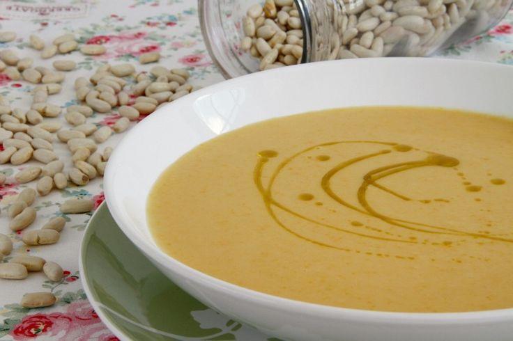 Crema de judías blancas y verduras