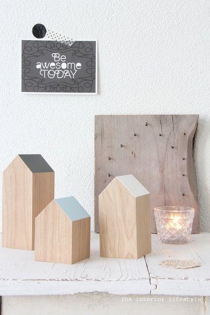 DIY: wood houses