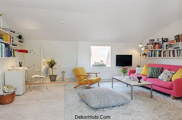 İskandinav Tarzı Oturma Odası Modelleri