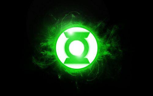 Green Lantern Logo Glowing Green Lantern