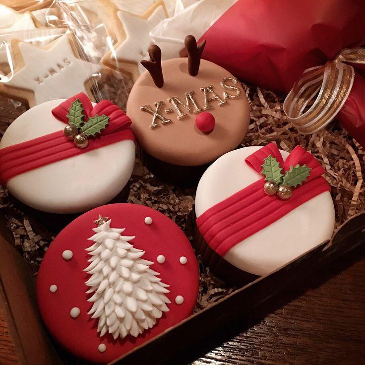 [콤마케익_COMMA CAKE] christmas cupcakes  크리스마스 슈가컵케익