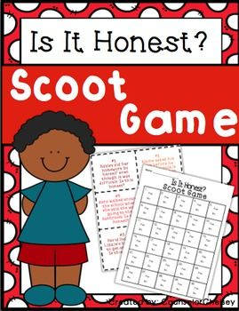 30 prompts to help students learn the difference between honest and dishonest behaviors. A fun, active way to help give kids a clear idea of how they can practice honesty.