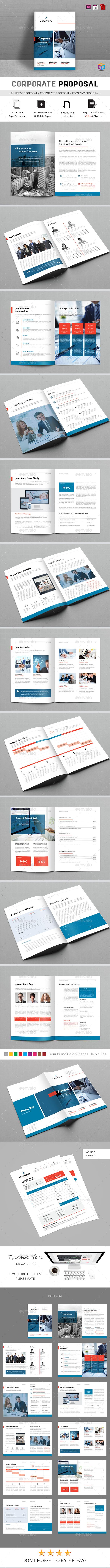 Proposal Template  — InDesign Template #a4 #light #brand #corporate • Download ➝…