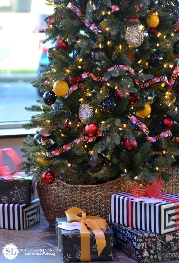 #Maryland Flag Christmas Tree in honor of #Autism | #marylandpride #specialneeds @xmastreemarket #christmasinthecommunity: