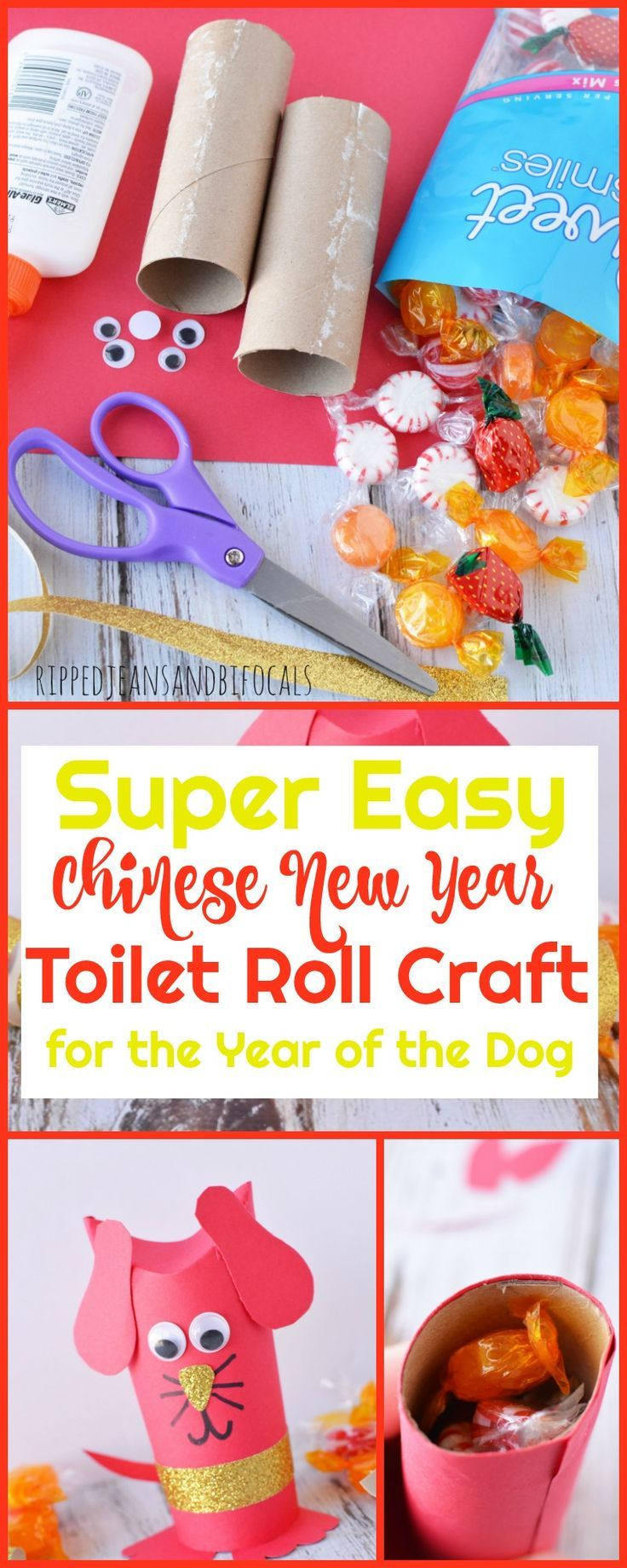 Super Cute Year Of The Dog Chinese New Year Craft Chinese New Year Crafts New Year S Crafts Toddler Arts And Crafts