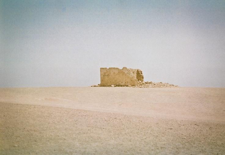 some ruins in desert