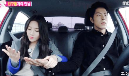 This dude makes me nervous, LOOK AT THE ROAD JJONG! EYES. ON. THE. ROAD. #jjongah #hongjonghyun #lovebirds #cuties