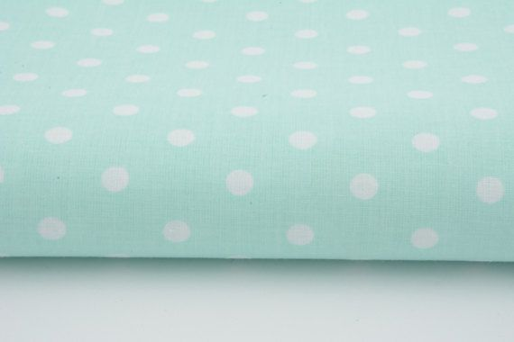Cotton 100% polka dots 7mm on a mint background by the yard