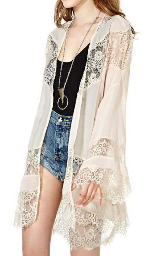 Show off your stunning style in this gorgeous floral lace cardigan ! It will keep your look sweet and stylish from the office to street .Hit more heated pieces at Cupshe.com !