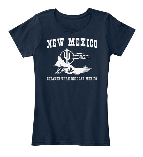 New Mexico I Love New Mexico T Shirt New Navy Women's T-Shirt Front