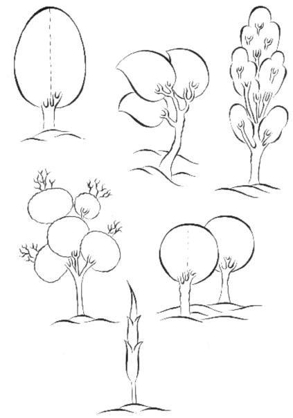 Cahide Keskiner - Minyatür Sanatında Doğa Çizim ve Boyama Teknikleri Osmanlı dönemi minyatürlerinde kullanılan çeşitli ağaçlar