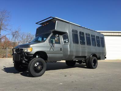 http://www.skoolie.net/forums/f27/7-3l-shuttle-bus-4x4-toyhauler-9883.html