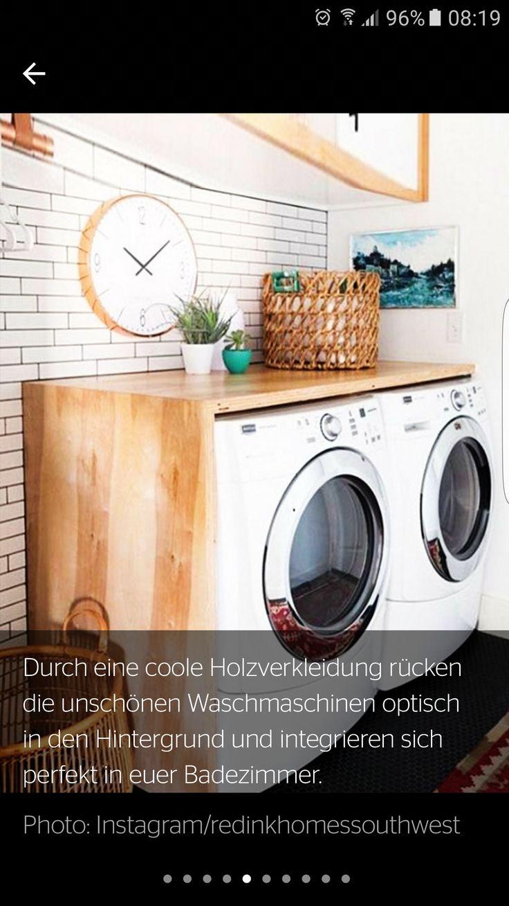 Waschmaschine & Trockner verschönern