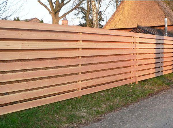 Douglasie Keilspund Zaun Douglasie, Holzwand garten