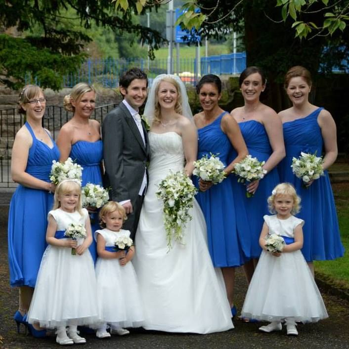 Sarah and her bridesmaids looking beautiful!!  #bridalgown #weddingdress #stunning #wedding #bridesmaids #morilee #philcollins