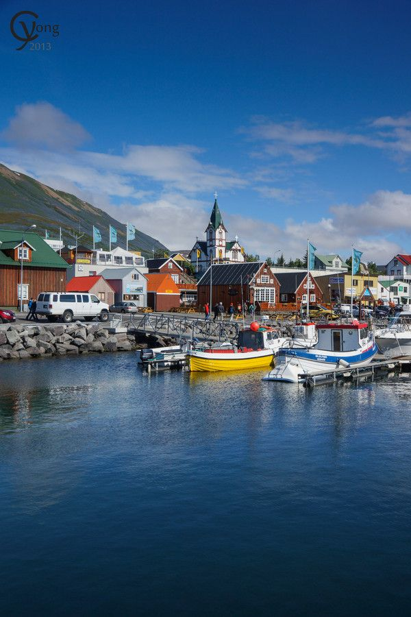 Husavik Iceland. Whale Watching. Fishing Village. Went out on a great whale watching tour from here.