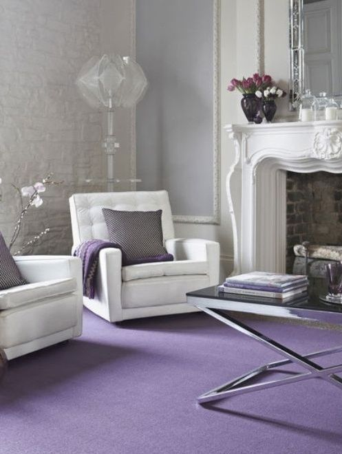 65 best a purple home why not images on pinterest Lilac living room ideas