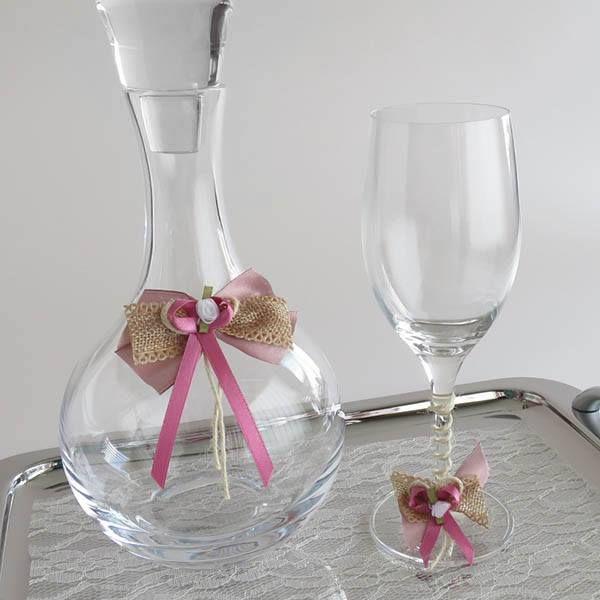 Ποτήρι Καράφα Δίσκος Γάμου, Αξεσουάρ Γάμου. Θα τα βρεις στο Asimenio.gr #pothri #karafa #diskos #gamos #accessories #καραφα #ποτηρι #δισκος #γαμου #γαμος #asimenio