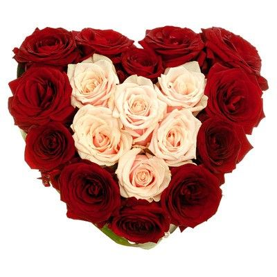 Букет из роз в виде сердца. Бесплатная доставка в Москве http://www.dostavka-tsvetov.com/osobye-bukety/obozhaju