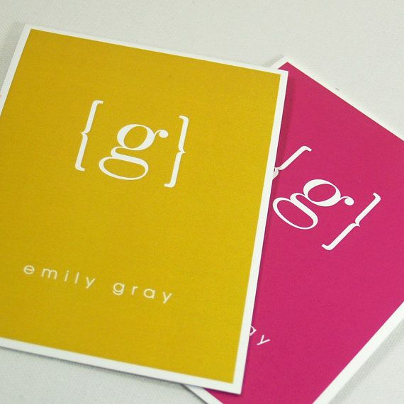 personalized stationery set note cards - your NAME your INITIAL MONOGRAM - set of 8 - personalized stationary folded - choose color