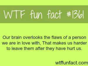 "funny facts about love and relationships... thats why they say "" Love Is Blind """