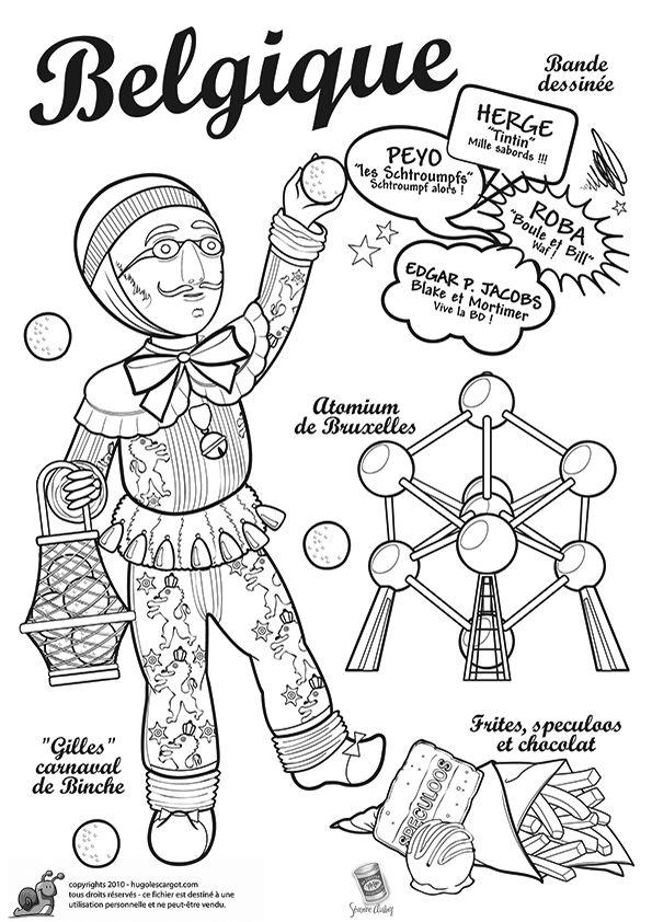 Belgique page 31 sur 43 sur hallo - Coloriage hugolescargot ...