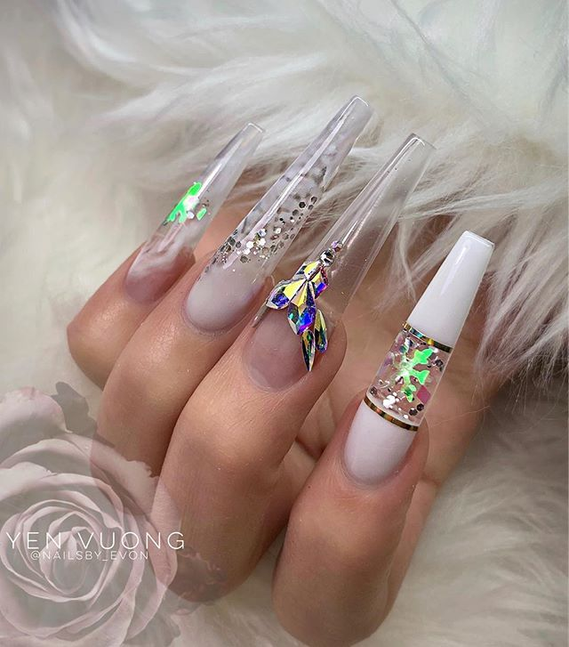Seattle White Christmas 2019 Pin by Coco Lancier on Nails in 2019 | Swag nails, Nails, Bling nails