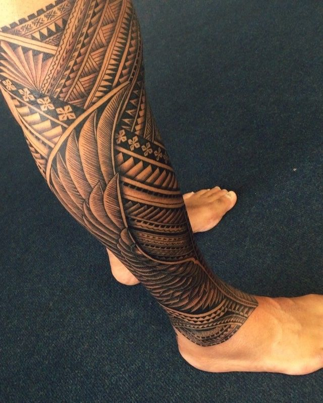333 best images about tattoos i like maori polynesian for Polynesian thigh tattoo