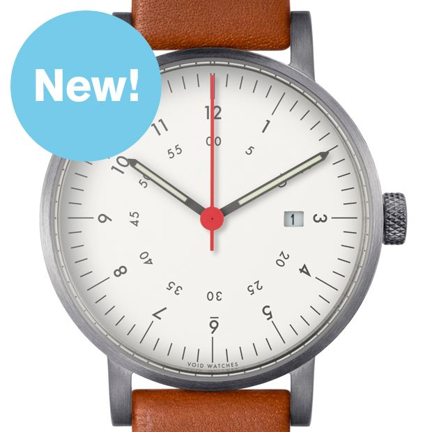 Void V03D (brushed/light brown) watch by Void. Available at Dezeen Watch Store: www.dezeenwatchstore.com