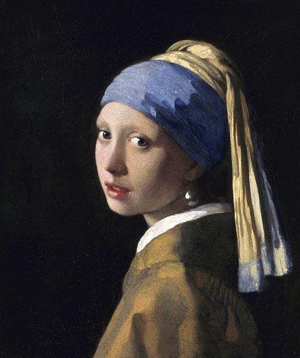 La pintura de Johannes Vermeer se llama Chica con un pendiente de perla. Esta pintura justifica mi definición de belleza. La cara de la chica tiene un aspecto de inocencia y simplicidad. Los colores en el marco hacen contraste a el fondo negro causando un énfasis en la mujer.