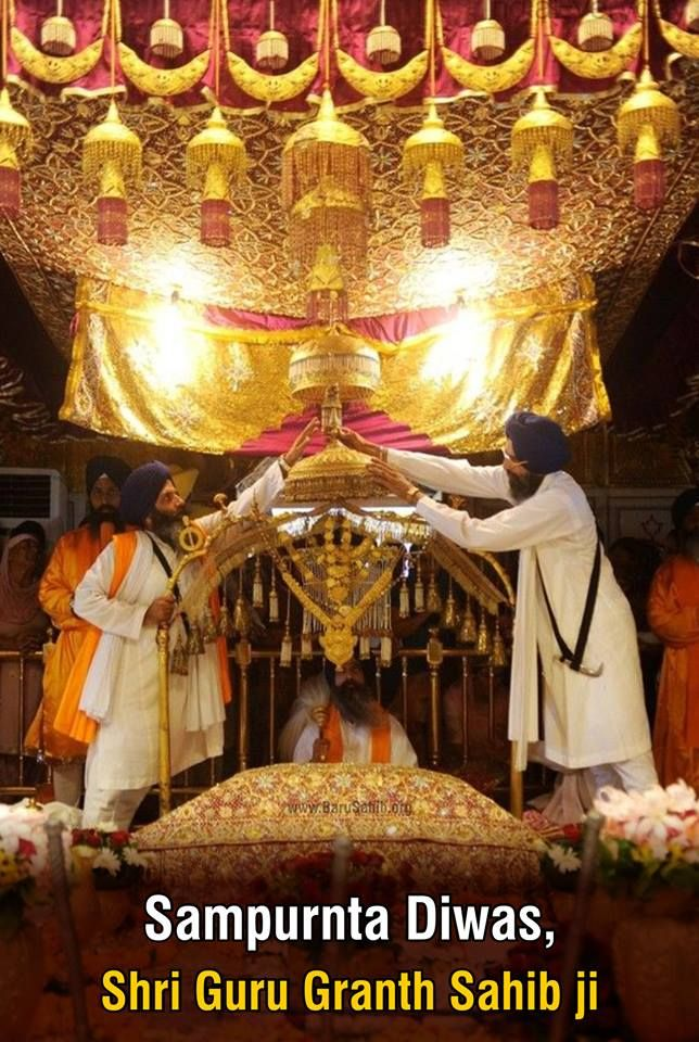 Sampurnta Diwas of Shri Guru Granth Sahib Ji  Read More http://barusahib.org/ge…/prakash-purab-guru-granth-sahib-ji/