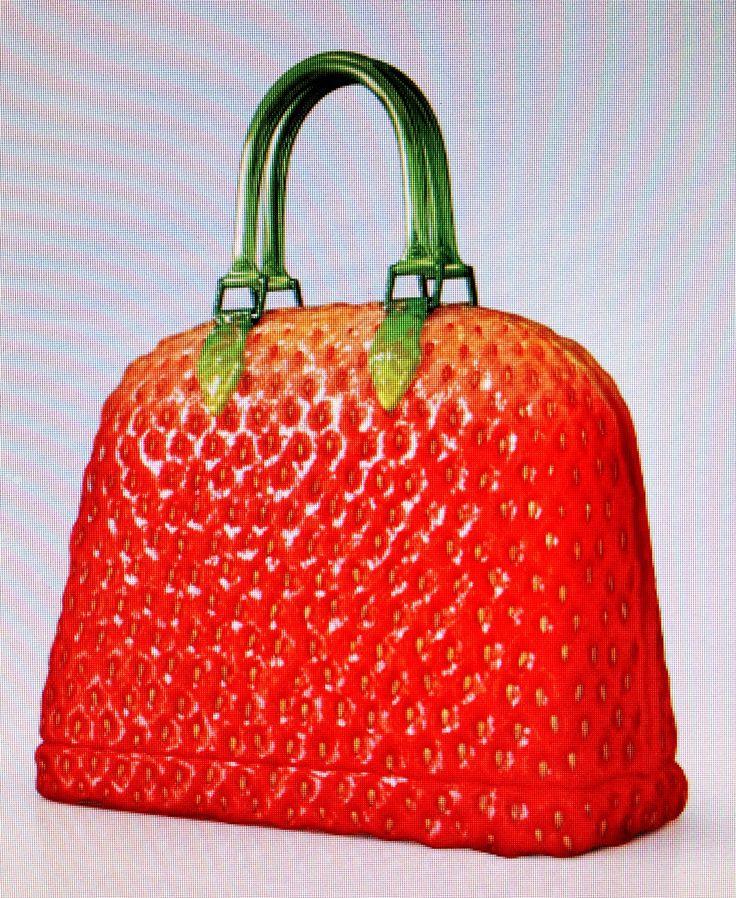 Aardbeien handtas - heel stoer Strawberry handbag