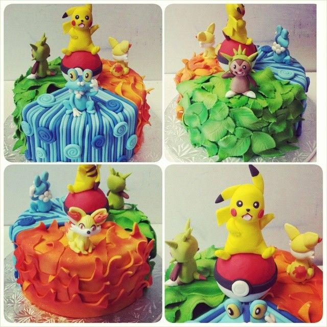Pokémon Cake. Video Game Cake