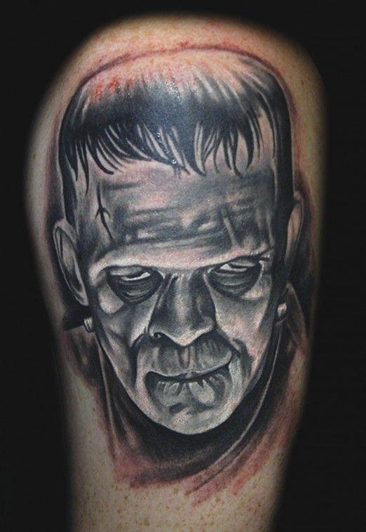 Frankenstein by Tyler Malek #InkedMagazine #classic #horror #tattoo #tattoos #ink #inked