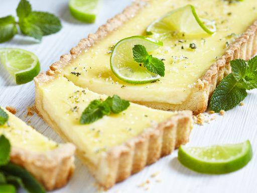 Recette de Tarte au citron vert (ou jaune) facile