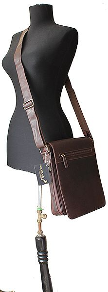 Men's Brown Leather Messenger Bag – Medium Size