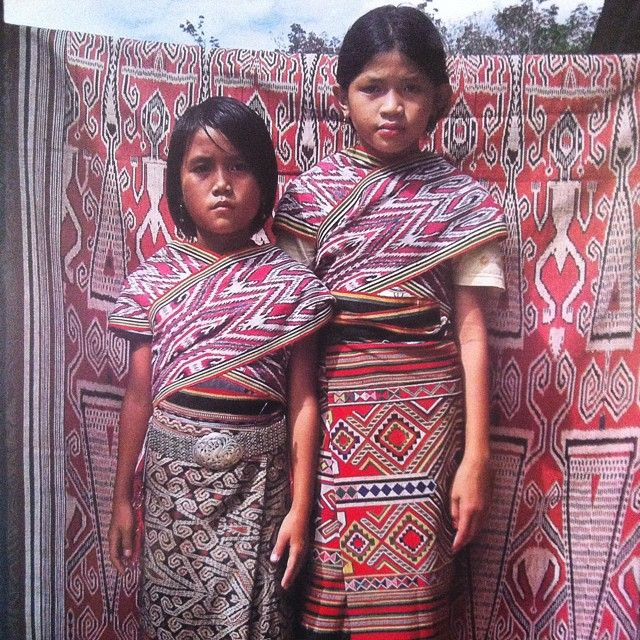 Pattern and color inspiration comes from all over - today it comes from these amazing young ladies of the Dayak tribe on the island of Borneo, Indonesia. Soles with soul.