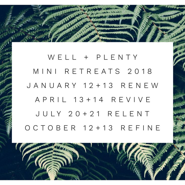 Next Mini Retreat: REVIVE : April 13 +14 at M'lea's Home in Edmond, OK (subject to change). If you missed the opportunity for the first WELL + PLENTY Mini Retreat thats ok…