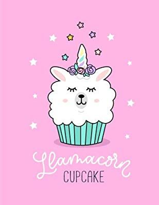 f1cda03e Llamacorn Cupcake: Extra Large 8.5'x11' Llama Cupcake Bright Pink Sketchbook  for Students and Artists for Sketching, Drawing, Doodling, Painting,  Writing, ...