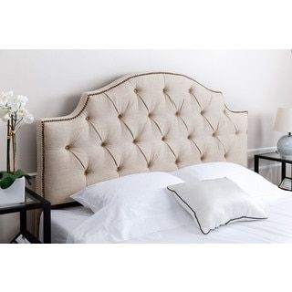 Shop for ABBYSON LIVING Royal Tufted Wheat Linen Queen/ Full Headboard. Get free delivery at Overstock.com - Your Online Furniture Shop! Get 5% in rewards with Club O!