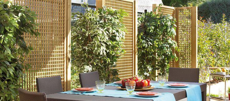 1000 images about celos as y vallas de jard n on for Celosias para jardin