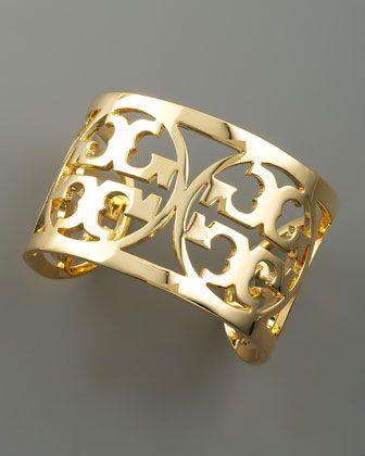 Tory Burch Logo Cuff, Gold - in love